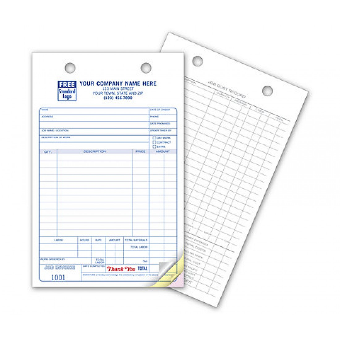 Work Order Register Forms - Large Classic