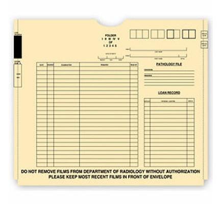 X - Ray File Pockets, Manila, 1 Expansion, 11 pt, Pre Print (Item # 2675) - Business Checks Supplies  - Business Checks
