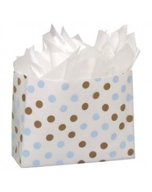 Brn Blu Dot Clr Frosted Bag