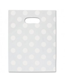 Wht Dot Frstd Merch Bag 9x12