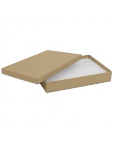 Natural Kraft Jewelry Boxes 8 x 5 1/2 x 1 1/4