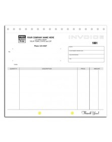 107, Compact Carbonless Invoices, Unlined (107) - General Forms  - Business Forms