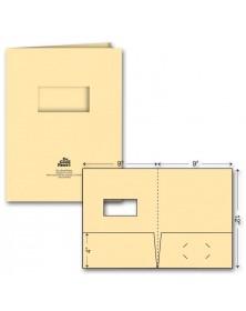 Standard Presentation Folder - Ink Imprint - w/window