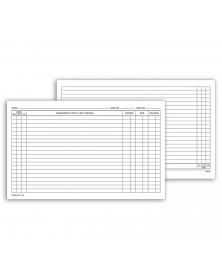 Continuation Exam Records Card Style With Account Record