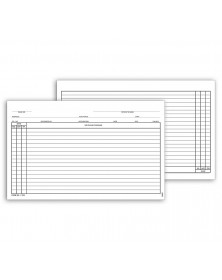 General Patient Exam Records Card Style W/O Account Record