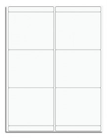 6 Per Sheet Blank Mailing Labels