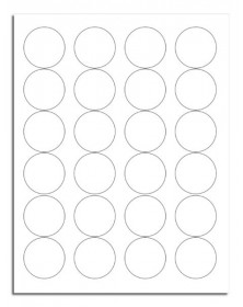 Blank Circle Printer Labels Item # 12677  (12677) - Popular Labels   - Labels | Printez.com
