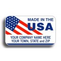 Made In The USA / Flag Labels (12746) - Popular Labels   - Labels | Printez.com