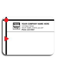 Padded Mailing Label with Red/Black Modern Design (Item #12778) - Mailing Labels  - Labels | Printez.com