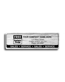 Resistant Chrome Sales Service Labels