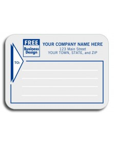 Padded Mailing Label - Gray Contemporary (1682) - Mailing Labels  - Labels | Printez.com