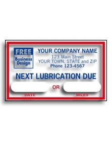 Windshield Next Lubrication Labels