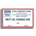 1690C, Windshield Labels, Next Oil Change Due (Item #1690C) - Popular Labels   - Labels | Printez.com