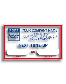 Windshield Next Tune Up Labels