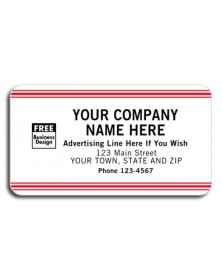 Advertising Labels in White and Red