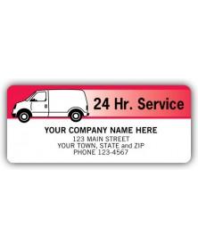 Adhesive Van Service Labels