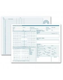 Dental Exam Record Anatomic Diagrams Horizontal Format