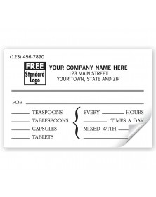 Veterinary Instruction Labels, Pressure Sensitive