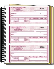 Spiral Bound Receipt Books