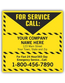 Yellow Vinyl Contractor Labels