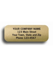 Gold Foil Padded Stock Labels