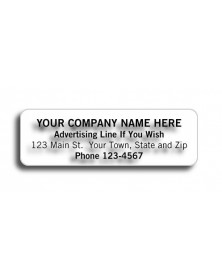 Adhesive Transparent Address Labels