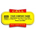 Call For Service Labels (Item #346) - Popular Labels   - Labels | Printez.com