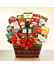 Seasons Greetings Merrymaker Deluxe Food Gift Basket