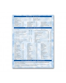 Two Sided Registration & History Form Bright Skies Design