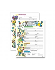 Two Sided Registration & History Form Pediatric Dental