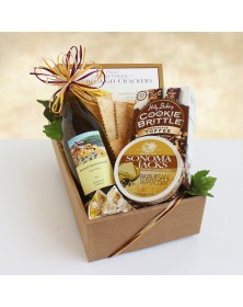 California Delicious Chardonnay Classic Wine & Cheese Food Gift Basket
