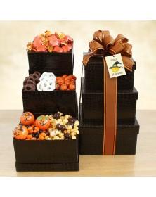 Happy Halloween Sweets Food Gift Tower