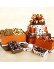 Wonderful Fall Sweets Food Gift Tower