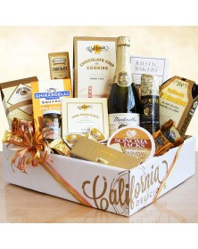 Sparkling California and Artisanal Delights Food Gift Box