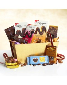 Godiva Milk Chocolate Expressions Food Gift Basket