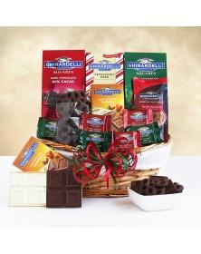 Ghirardelli Holiday Dream Food Gift Basket