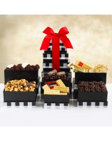 Holiday Elegance Food Gift Tower