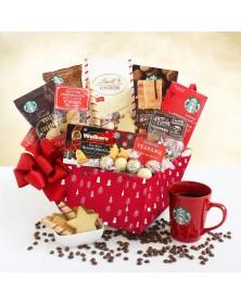 A Starbucks Christmas Morning Food Gift Basket