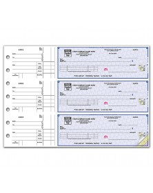 3 On A Page Business Size Checks With Side Tear Vouchers