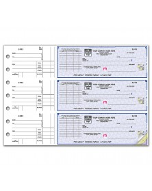 3 On A Page Business Size Checks With Choice Of Voucher