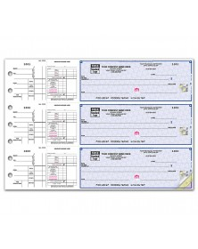 3 On A Page Payroll & Disbursement Check Side Tear Vouchers