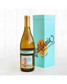Regalo Chardonnay Wine in Teal Wine Gift Box