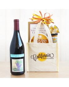 A Taste of California Mini Tote with Red Wine