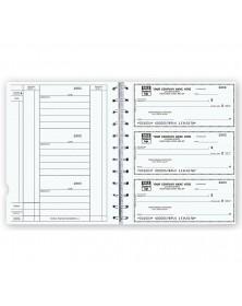 The Newport Deskbook, 3 On A Page Checks Compact Size Checks