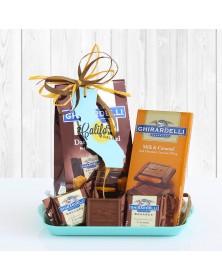 California Ghirardelli Chocolate Tray Gift