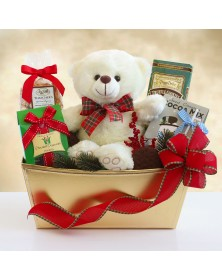 Beary and Bright Holiday Food Gift Basket