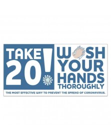 Take 20! Wash Your Hands Stickers