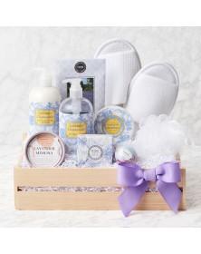 Lavender Spa Getaway Gift Basket