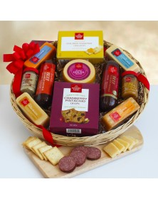Holiday Favorite Meat  and Cheese Food Gift Basket