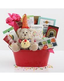 Happy Birthday Bear Hugs Food Gift Basket